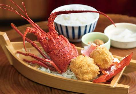 Deep-fried Ise lobster set