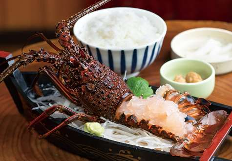 Ise lobster sashimi set