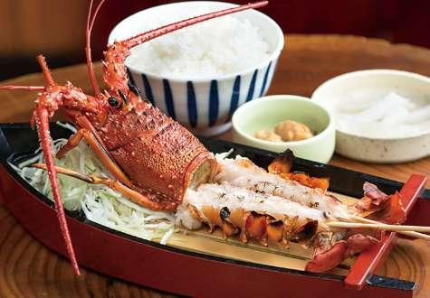 Grilled Ise lobster set