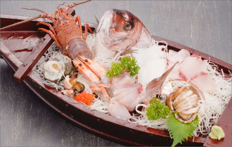 Sashimi - chef's choice. Served on a large boat platter