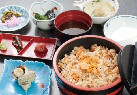 Sea urchin rice set